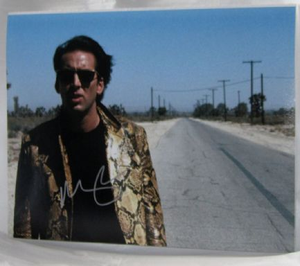 "A752NC NICOLAS CAGE - ""WILD AT HEART"" SIGNED WAS £62.50 NOW £49.99"